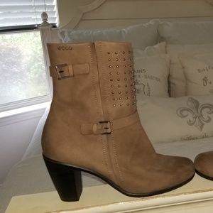 ECCO Touch Studded Leather Midcalf Boots